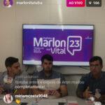 """ESSA EU VI NO INGÁ CIDADÃO, O MAIS LIDO DA REGIÃO, DO MEU AMIGO SERJÃO : Marlon e Vital inovam na política com realização de """"bate-papo"""" ao vivo pela internet"""
