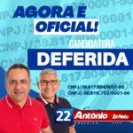 AGORA É OFICIAL ! EM MOGEIRO CANDIDATURA DE ANTONIO E ZÉ NETO É DEFERIDA
