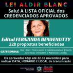 O RESULTADO FINAL dos CREDENCIADOS aprovados no edital FERNANDA BENVENUTTY está publicado!