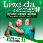 Edilson e Beto fazem Live hoje, quarta-feira (11)