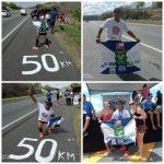 Ten. Eraldo e equipe de Riachão na Ultramaratona da BR 230