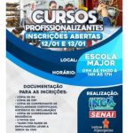 Prefeitura de Ingá abre inscrições para cursos profissionalizantes. Veja documentos necessários