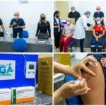 Prefeito Robério Burity participa e agradece durante solenidade que marca início da vacinação contra a Covid-19 no município de Ingá