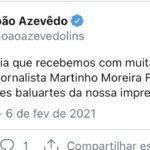 Governador lamenta morte do jornalista Martinho Moreira Franco