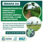 Semana da Conscientização na Agricultura discute manejo sustentável livre de agrotóxico