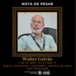 Secretario de Estado da Cultura da Paraíba homenageia o imortal Walter Galvão