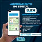 Nesta terça-feira (24/08), será o agendamento online para retiradas da Carteira de Identidade (RG), 1ª e 2ª Via, referente ao mês de SETEMBRO.