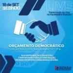 Prefeitura Municipal de Riachão de Bacamarte lança o Orçamento Democrático Municipal. Veja como participar !